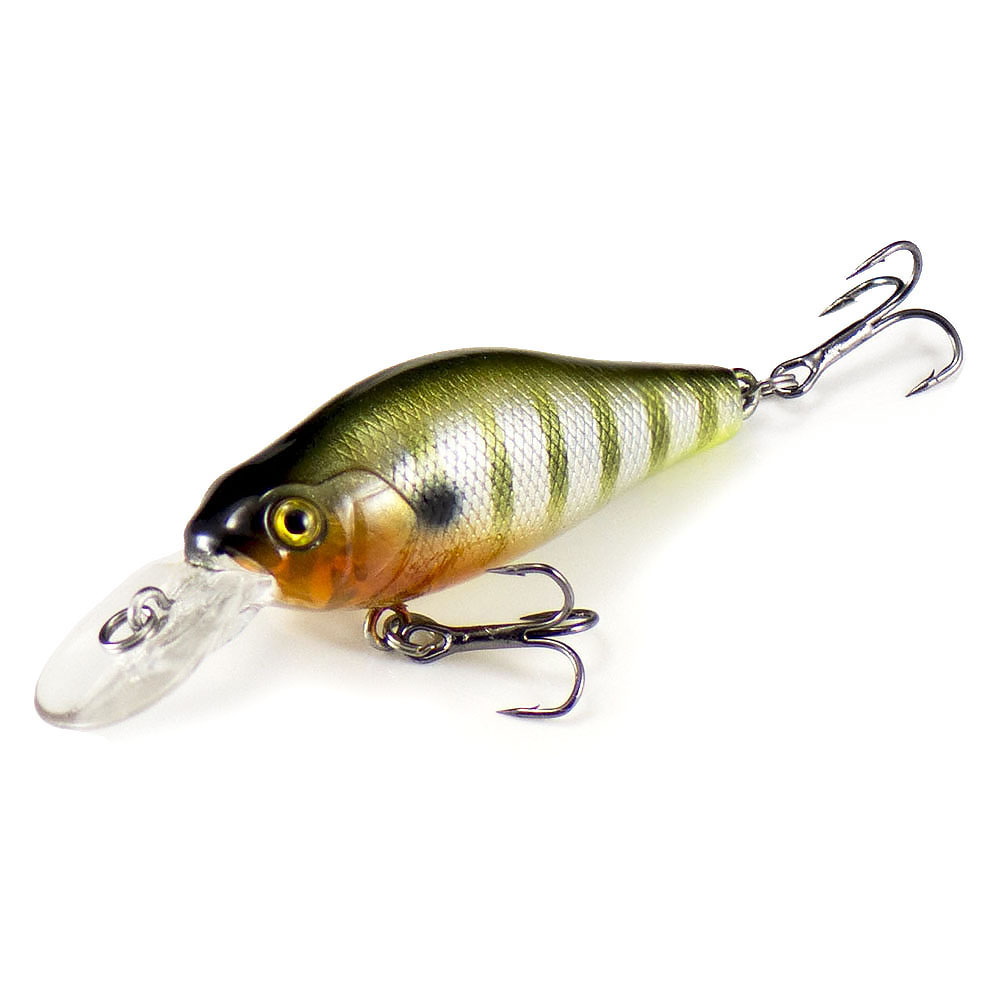 53mm 6.6g Crankbait Hard Plastic Fishing Lures, Countbass Wobbler Freshwater Chatterbait Diving Depth 1.2-1.8m