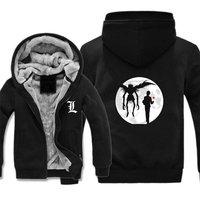 anime Death Note Thick jacket Death Ryuuku winter warm Flannel Hoodie Coat Unisex Cashmere Sweatshirts Hooded Windbreaker jacket