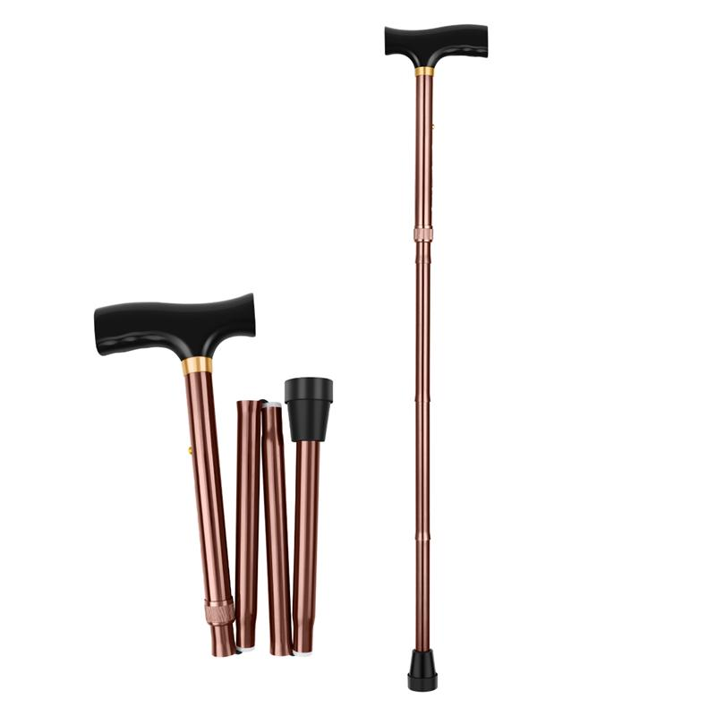 Folding Cane Practical Lightweight Adjustable Walking Accessory Mobility Aids Walking Stick for Women Seniors Disabled  Elderly