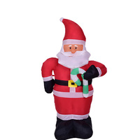 New Christmas Decorations Activity Venue Layout Props 1.2 M Inflatable Small Cane Santa Claus Thanksgiving Decorations for Home