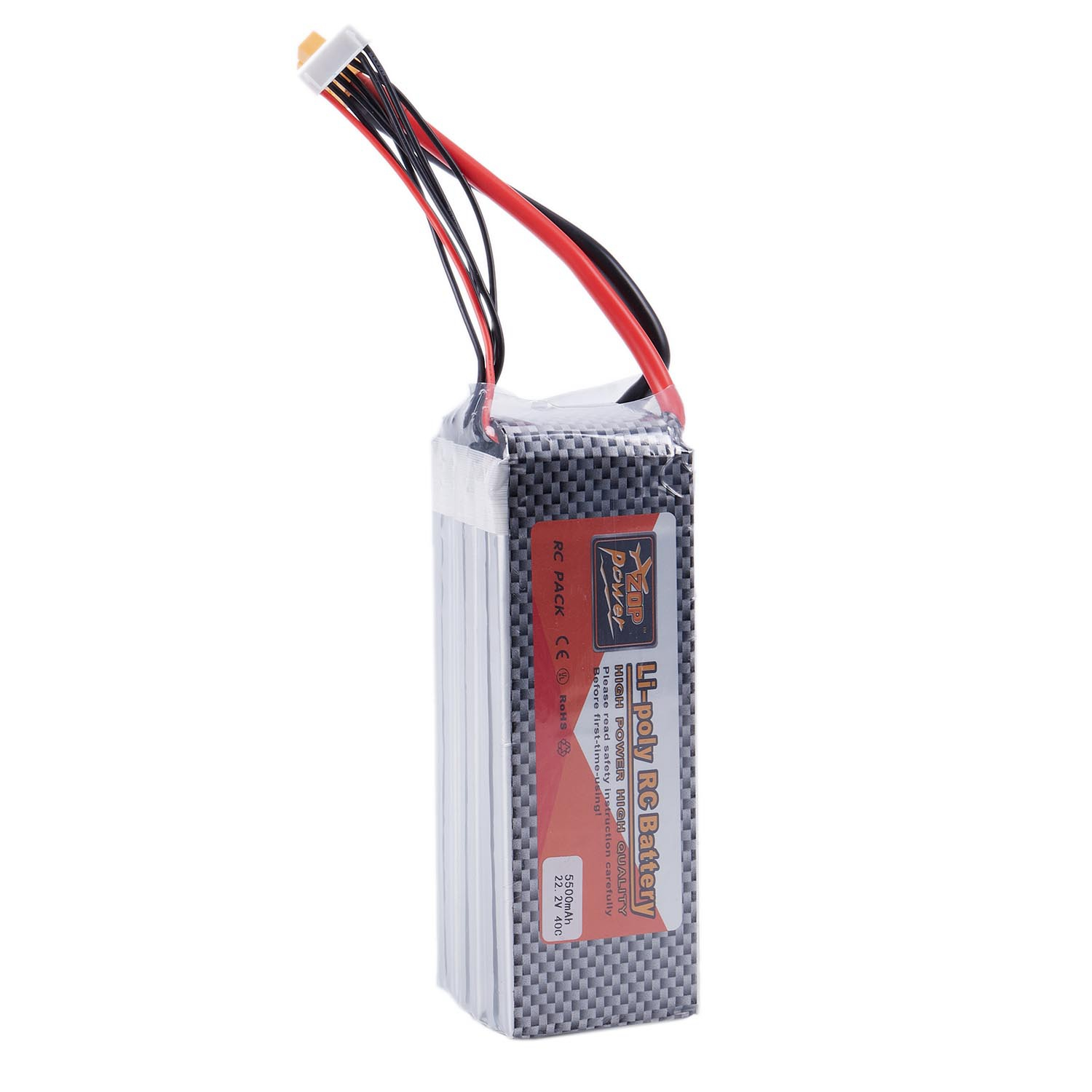 Zop Power 22.2V 6S 5500Mah 40C Xt60 Lipo Battery For Rc Helicopter Quadcopter