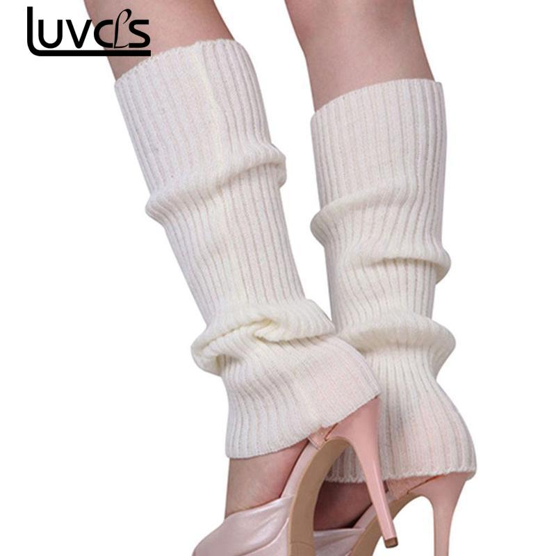 LUVCLS 1pairs Ladies Winter Spring Knit Crochet Leggings Boots Knee Pad Boot Legging Warm Solid Color Body Warm Leggings Socks