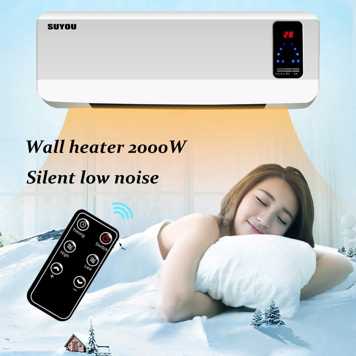220 V 50 hz 2000 W chauffage électrique étanche domestique chauffage mural salle de bains chauffage mural au-dessus de la porte avec télécommande