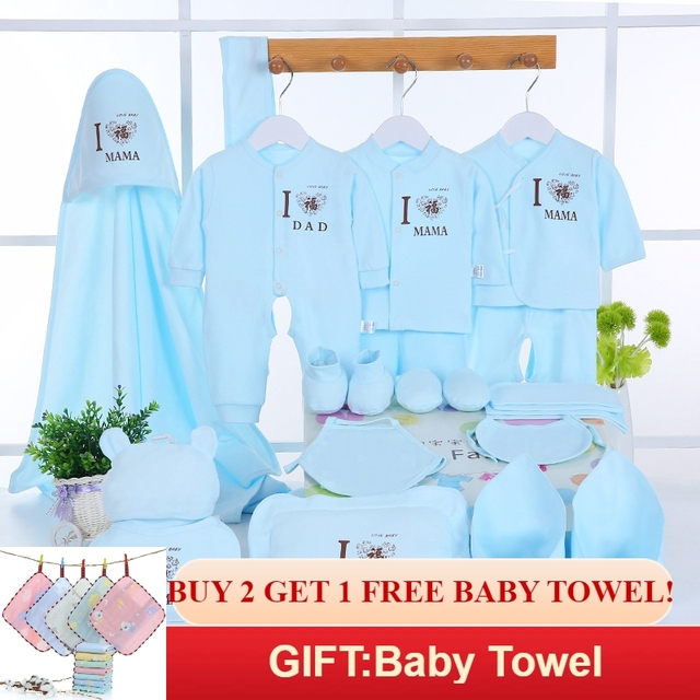 Emotion Moms Newborn Baby Clothing Set Brand Baby Boy/Girl Clothes Set New Born Baby Clothes Underwear 100% Cotton 22PCS/set