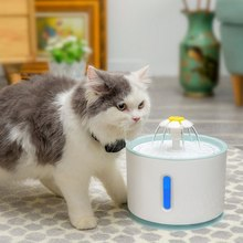 2.4L Automatic Pet Fountain Water Dispenser Luminous Cat USB Electric Dogs Drinking Bowls