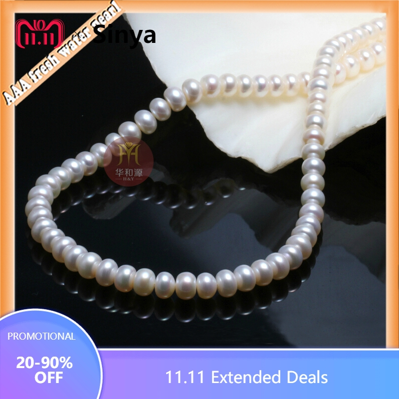 Classic 18inch about 45 Large freshwater Pearls beads chokers necklace pearl diameter 10-11mm with slim long gift box наволочки other 45 45 18inch
