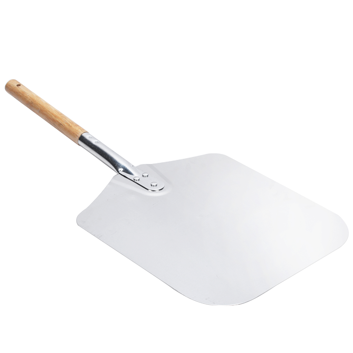 1pc Aluminum Pizza Peel Shovel Silver Bread Pie Shovel with Wood Handle Mayitr 66 x 30.5cm Paddle for Baking Accessory