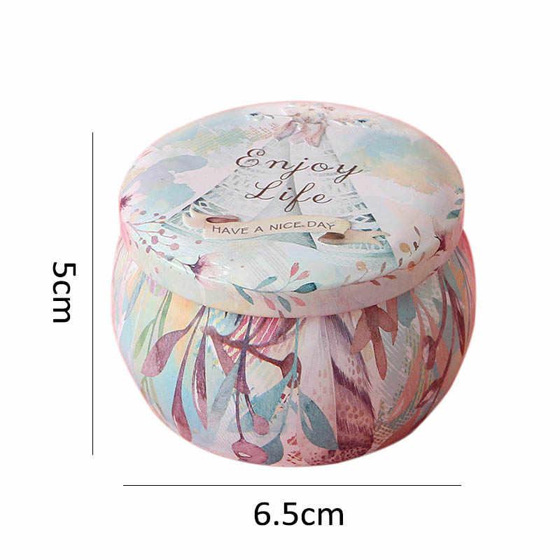 1 pçs multifunction folha de flandres caixa de doces rosa pote de chá em forma de tambor caso de biscoito decoração para casa fontes de festa festiva