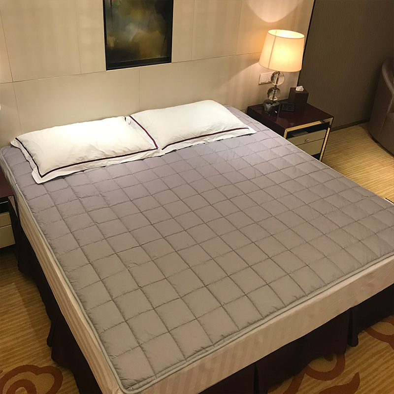 brand new d17c2 3a941 US $32.99 50% OFF|100% Cotton bed protection pad twin single queen full  double king size Mattress Topper mattress cover Breathable, non slip on ...