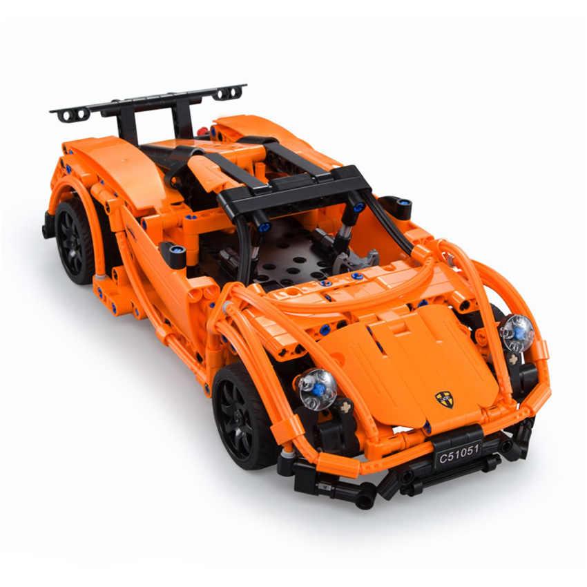 421 шт. Technic серия супер автомобиль строительные блоки Prosches Модель Набор кирпич совместимые Legoing игрушки подарок для детей