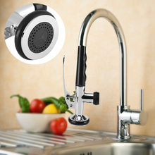 Pull Down Faucet Sprayer Swivel Sink Tap Pre-Rinse Spout Spray Head Handheld Water Tap for Bathroom Kitchen Basin Sink Taps uythner gold polish swivel spout kitchen sink faucet pull down sprayer fashion design bathroom kitchen hot