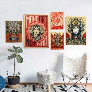 Художественный постер серии «не войны» на продажу, настенная живопись, абстрактные картины на холсте для спальни, для домашнего декора, без ...
