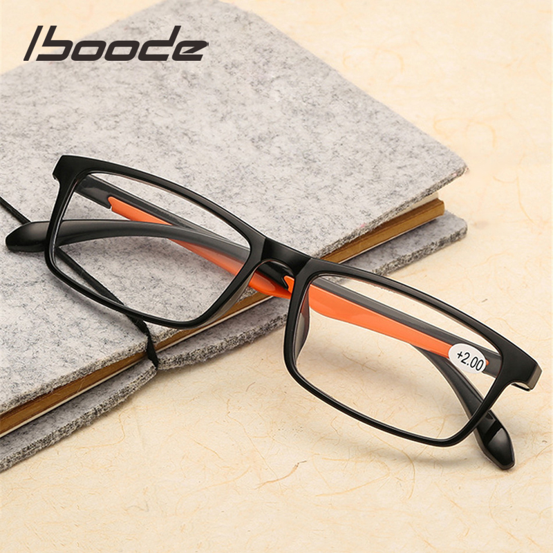 Iboode Presbyopic Glasses Eyewear Reader TR90 Lens Ultralight Women Male Clear Retro