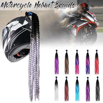 60 Cm Casco De Motocicleta Dreadlocks Casco De Mujer Dreadlocks Cola De Caballo Trenza Casco De Bicicleta Casco Punk Decoracion De Pelo