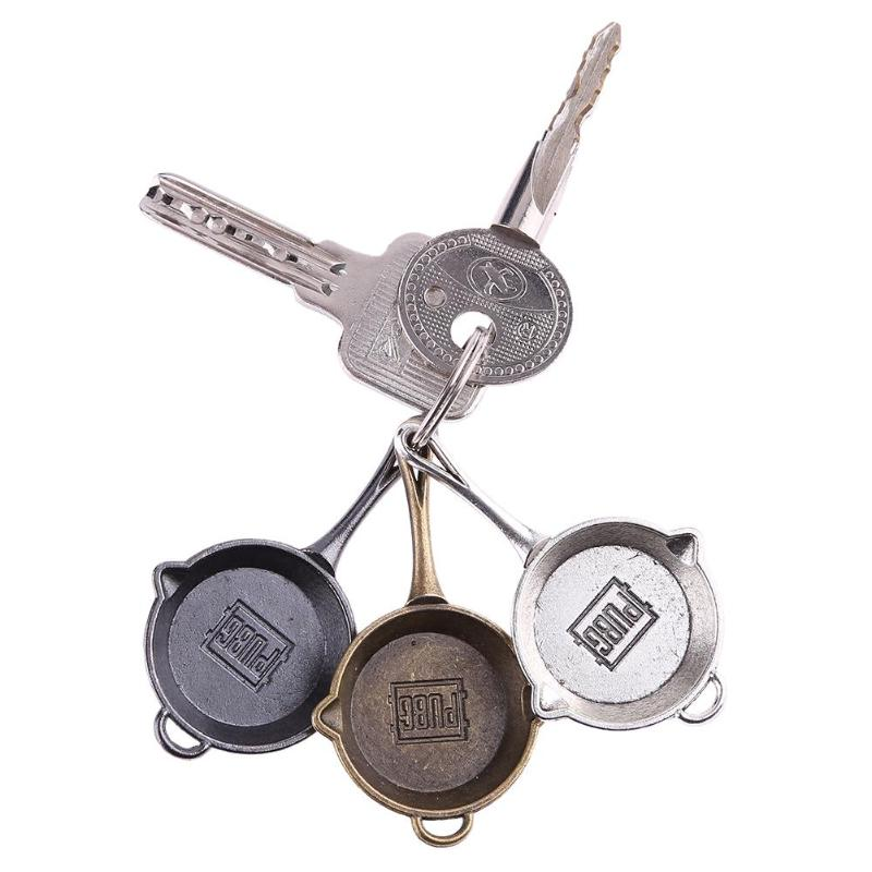 Game PUBG Keychain AWM 98K Pan ALL Rifle Model Playerunknown's Battlegrounds Cosplay Props Alloy Armor Key Chain  Pubg Anahtarl