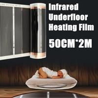 2pcs 50CM*2M One Square Meter Floor Heating Film (No accessories) Far Infrared Heating film Tool Warming Film Mat