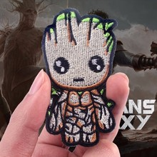 Pulaqi Guardians Of The Galaxy Patches For Kids Iron On Patch I Am Groot DIY For Kids Women Clothing Cute Tree Man Decoration F цена
