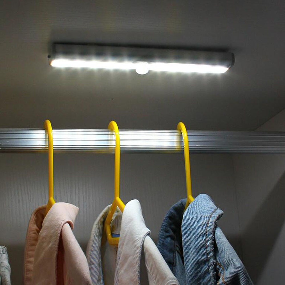 Foxanon Led Under Cabinet Light Wall Lamp Pir Motion Sensor Cupboard Closet Wardrobe Light For Home Bedroom Kitchen Led Lighting Lights & Lighting