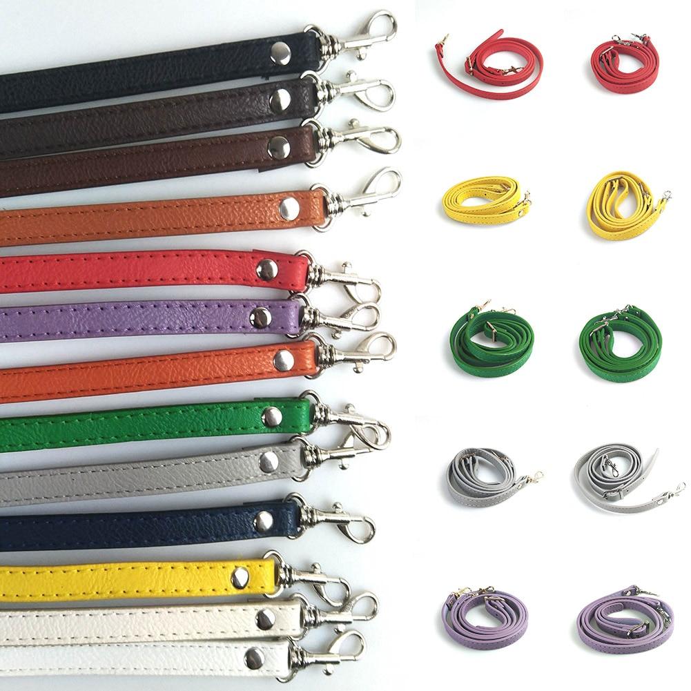 Fashion Womens Ladies Adjustable Handbag DIY Handle PU Leather Strap Belts Buckle Shoulder Bag Accessories Long Belts