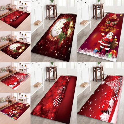 Christmas Santa Claus Anti-slip Kitchen Room Floor Mat  1
