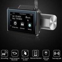 3G Car DVR with Android GPS log Dual Lens 1080p dash camera WIFI Car cam Video Registrar drive recorder