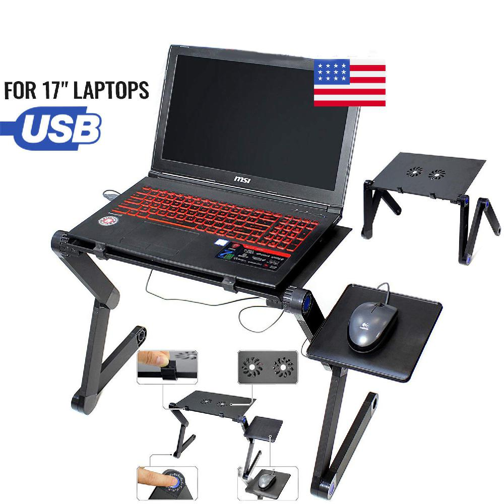 HobbyLane Laptop Stand Table Laptop Desk Tray Portable Adjustable For Bed Computer Notebook Holder Side Tray To Hold Mouse D20