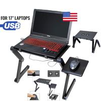 HobbyLane Laptop Stand Table Lap Desk Tray Portable Adjustable for Bed Computer Holder Side tray to hold mouse d20