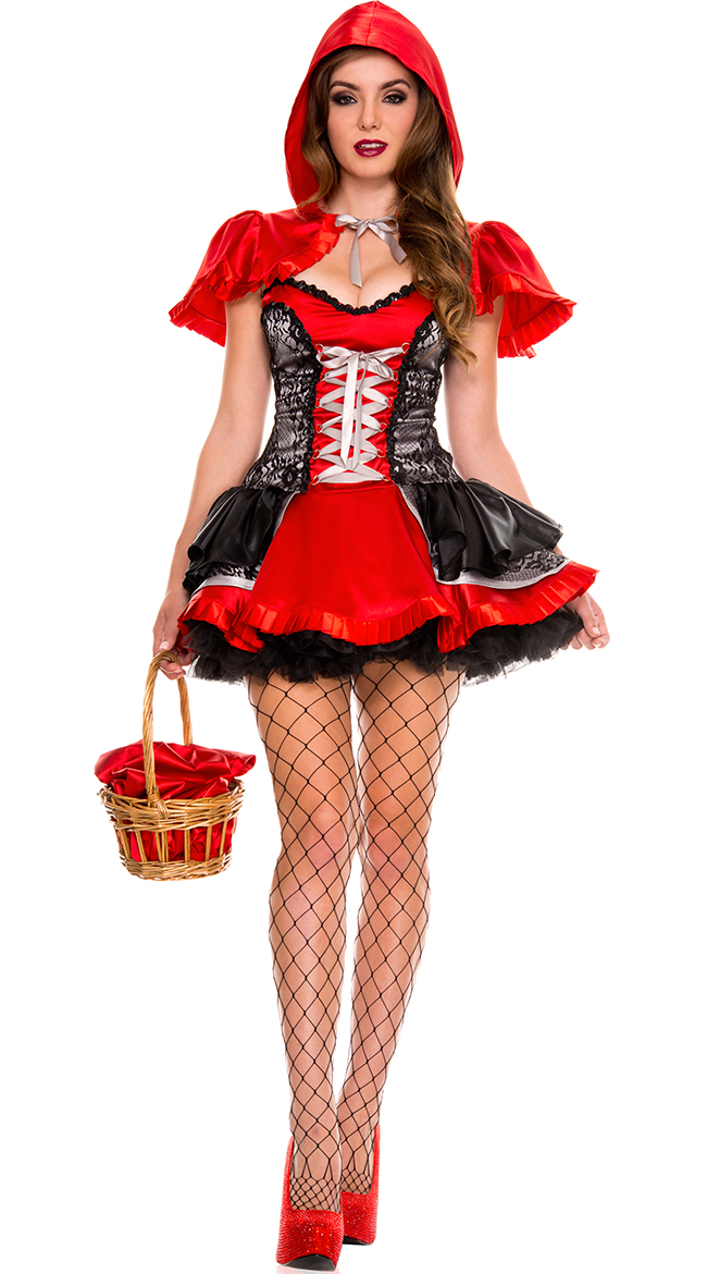 Women Sexy Story Book Little Red Riding Hood Costume Halloween Fairy Tale Fancy Dress