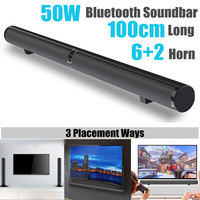 Detachable Wireless Soundbar bluetooth Speaker Stylish Fabric Hifi 3D Stereo Home Theater Sound Bar Support AUX / RCA / HDMI ARC