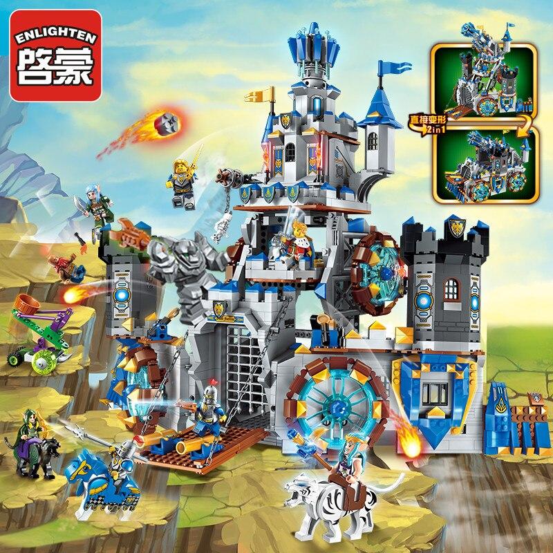 Enlighten เข้ากันได้กับ legoed สิงโตยุคกลางอัศวินปราสาท Carriage Building Block ชุดของเล่นเด็ก-ใน บล็อก จาก ของเล่นและงานอดิเรก บน   1