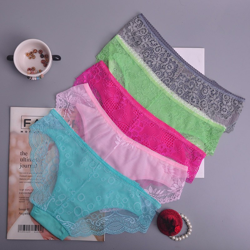 colorful Women's Sexy lace Thongs G-string Underwear Panties Briefs For Ladies T-back lingerie 1pcs/Lot ah74