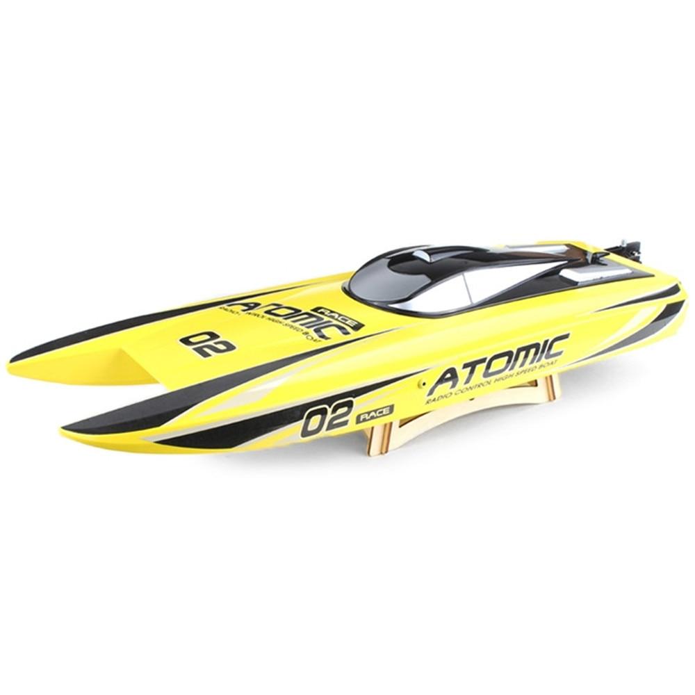 Nouveau RC bateaux jouets 65 km/H haute vitesse 2 Modes2.4GHz 2CH 300 m télécommande Distance et Long temps de jeu forte puissance enfants jouet