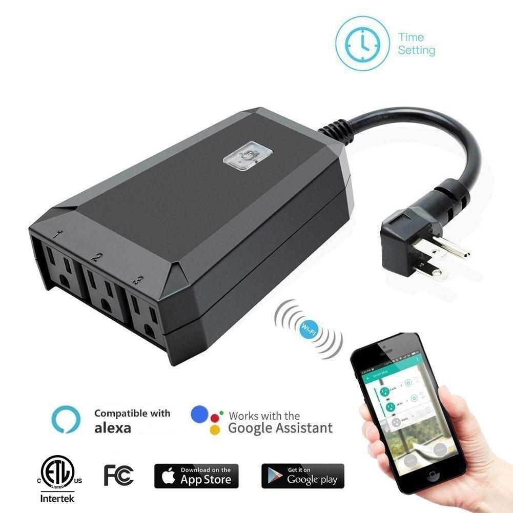 Un petit cochon En Plein Air wifi smart socket mobile téléphone minuterie interrupteur prise de contrôle à distance maison intelligente NOUS peut travailler avec amonzon