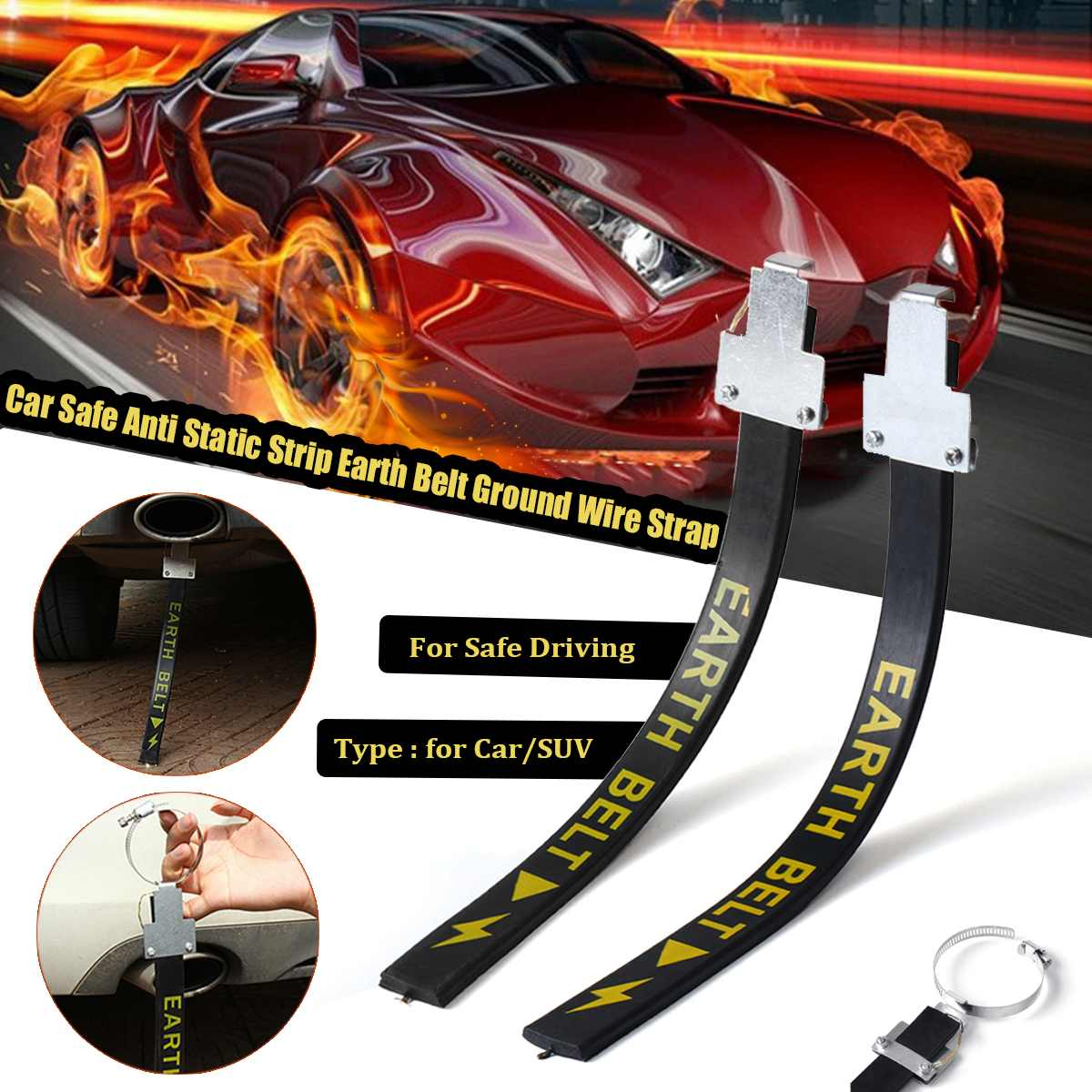 Automobile Static Electricity With Single Copper Wire Metal Belt Antistatic Car Electrostatic Belt Canceller Safe Driving