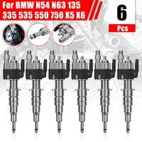 6pcs Fuel Injector For BMW N54 N63 135 335 535 550 750 X5 X6 13537585261 13538616079