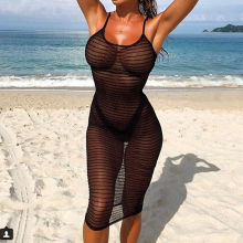 Женский кружевной сексуальный летний вязаный купальный костюм, бикини, купальник, накидка, Пляжное Платье, открытые цельные Топы