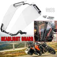 Motorcycle Transparent Headlamp Headlight Guard Protector Cover Lens For KTM 1290 Super Adventure R 1290 /S 1290 2017 2018