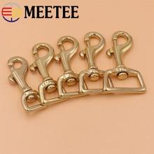 2pcs Solid Brass Bag Buckles Lobster Clasps Key Chain Dog Collar Straping Hook Buckle Shoulder Strap Swivel Snap Hook Fastener стоимость
