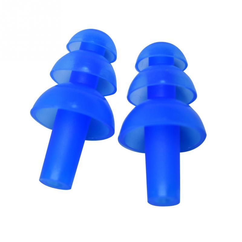 f72ac4aacb2d 6 paia/set Fungo Forma Molle Del Silicone Nuoto Tappi Per Le Orecchie  Professionali vetri di Nuoto Impermeabile Accessori Per Adut Bambini in 6  paia/set ...
