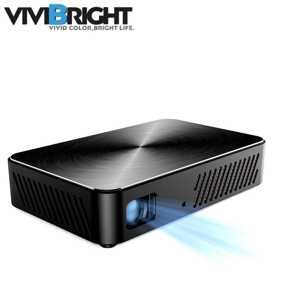 VIVIBRIGHT J10 bluetooth WIFI 1920*1080 projecteur Android 6.01 1G + 8G Beamer Mini DLP microprojecteur haut-parleur intégré pour 280 i