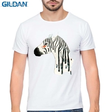 GILDAN  Summer Round Collar men T Shirt Style Horse animals Pattern Print T-Shirt Female Clothes