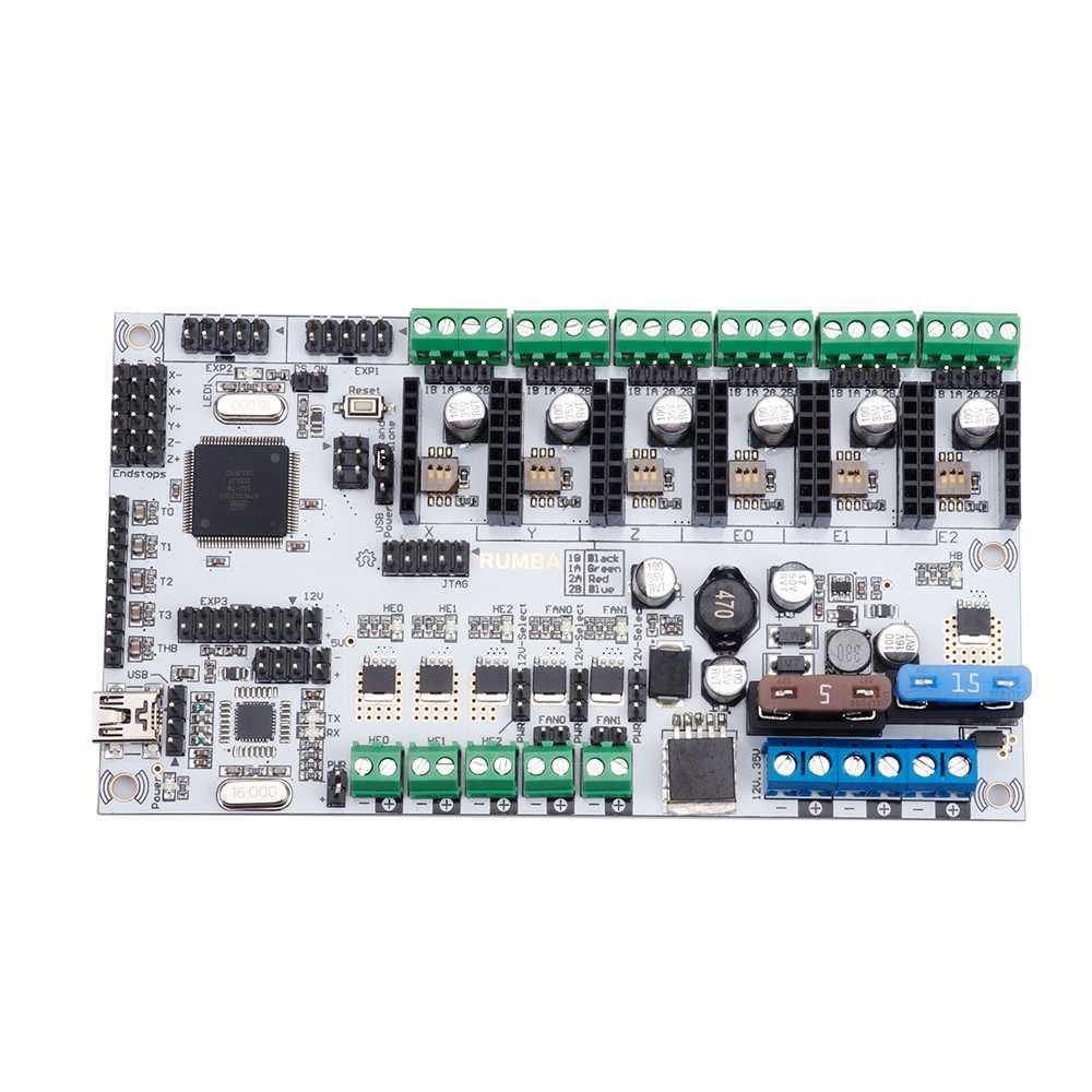 Rumba Plus La Carte Mère 2560 R3 Processeur Mise À Niveau Rumba + Pour 3D Imprimante Accessoires Rumba Optimisé Version tableau de contrôle