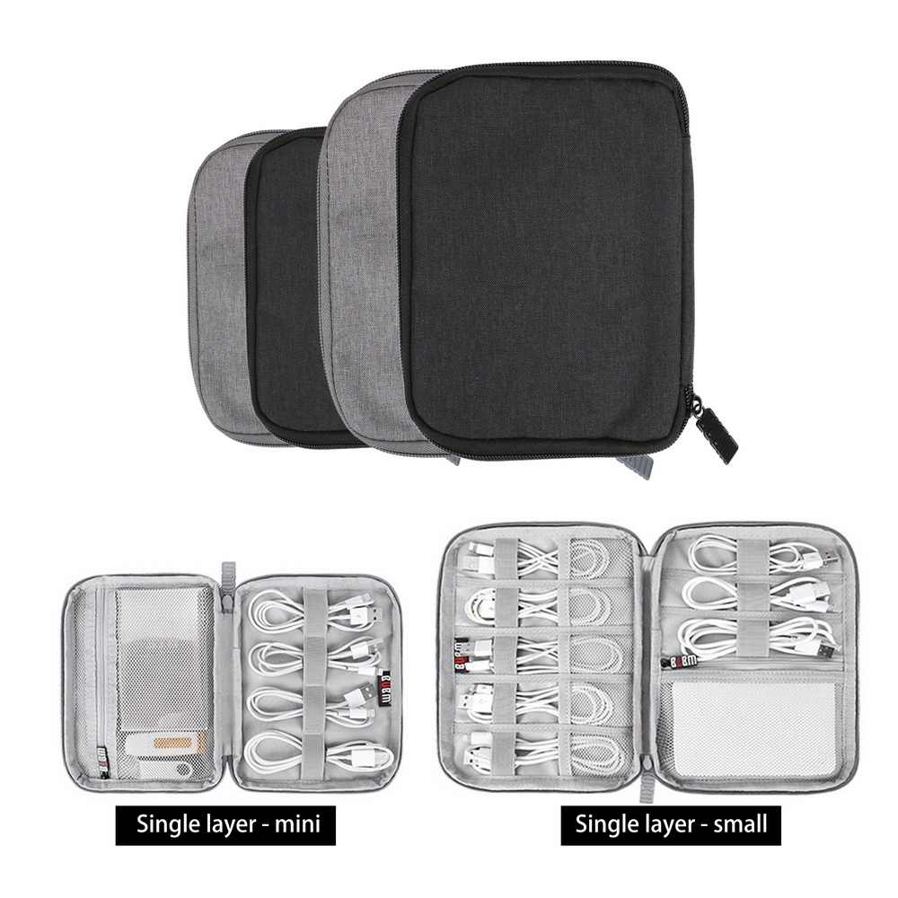 Digital Storage Bag Organizer For USB Data Cable Earphone Wire Pen Power Bank Travel Kit Case Pouch Electronics Accessories
