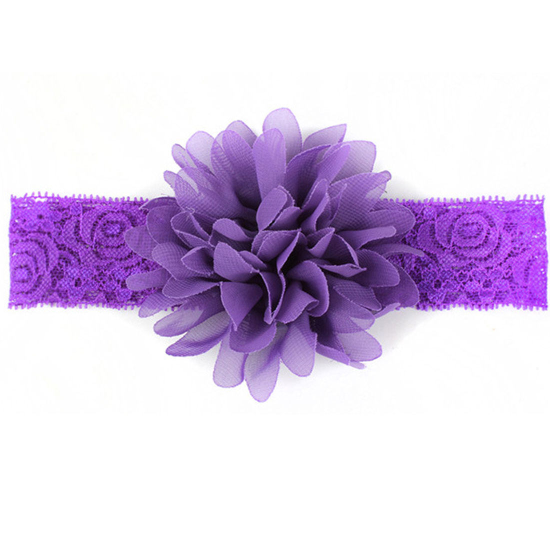 Hair Accessories for Girls Solid Lace Flower Band for Baby Hair acessorios