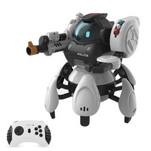 Remote Control Robot Space Police Intelligent Robot Smart Action Walk Sing Dance Action Figure Gesture Sensor Toys Gift for Kids(China)