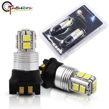 Gtinthebox (2) Белый Yelloe 50 W 3030 фишек PW24W PWY24W светодиодный лампы для Audi BMW указатели поворота или дневного лампы