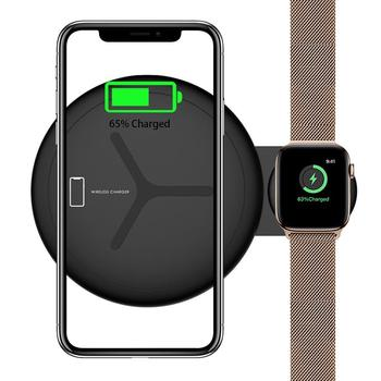 QI Wireless Charger Pad For  Apple Watch Wireless Charging Stand for iWatch 4 3 2 Iphone Xs Max Xr 8 8 Plus Station Dock Smart Accessories