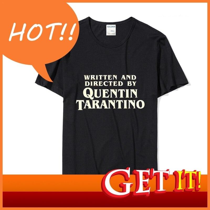 escrita-y-dirigida-por-quentin-font-b-tarantino-b-font-amarillo-variante-personaliza-tu-propia-camiseta-2018-camiseta-gris-para-hombre