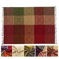 Cobertores de algodão 190X150 CM Sofá Lance Capa Mat Tapete Tapeçaria Toalha de Tecido Geométrica Tapete Têxtil de Cama Em Casa decorações