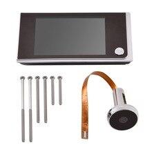 3.5 inch Digital Door Camera Doorbell LCD Color Screen 120 Degree Peephole Viewer Door Eye Doorbell Outdoor Door Bell deurbel me